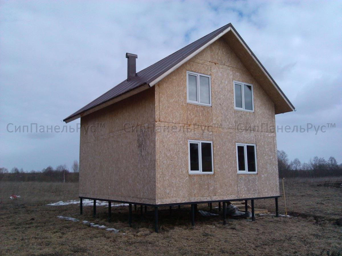 Строительство дома из сип панелей 72 м2, д. Баскаки, Владимирская область.